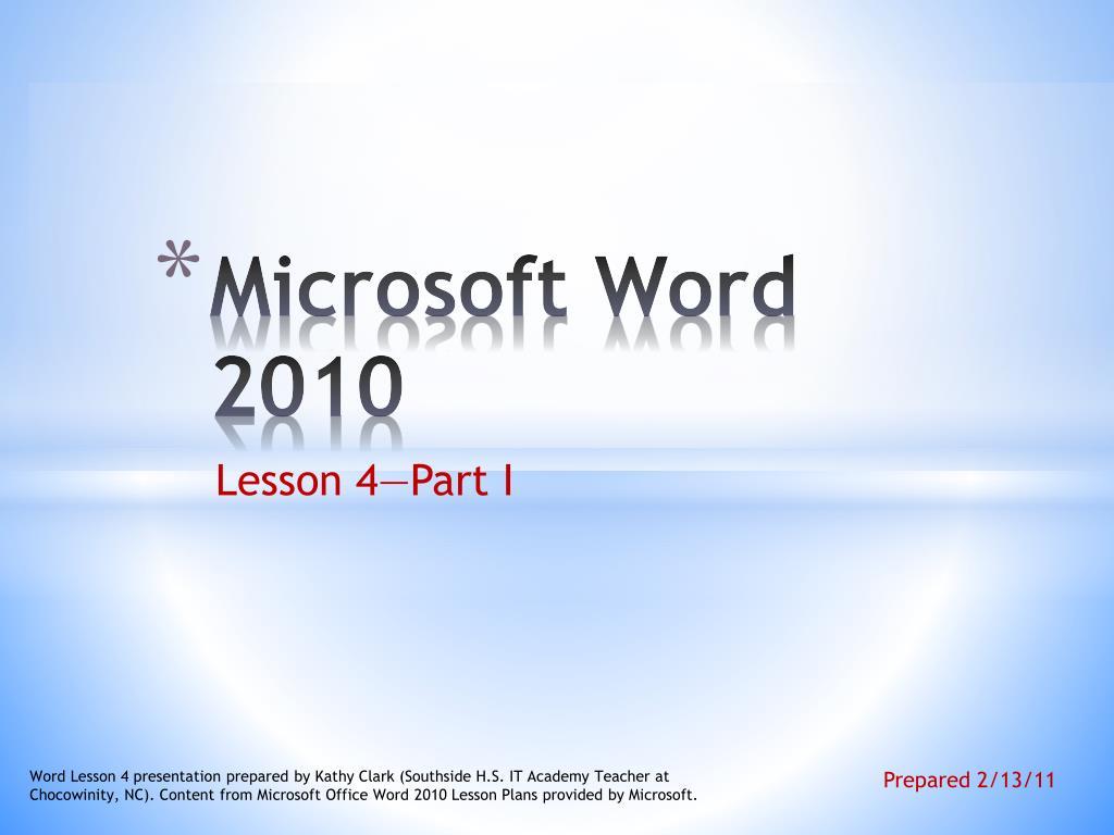 microsoft word lesson plans