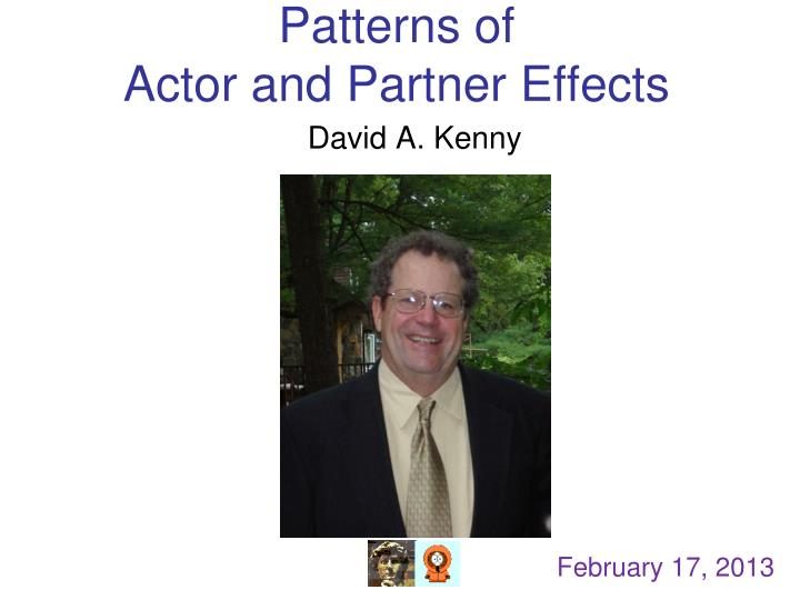 patterns of actor and partner effects n.