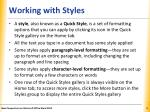 working with styles