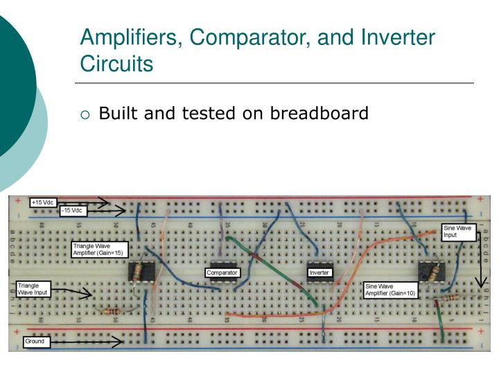 Amplifiers, Comparator, and Inverter Circuits
