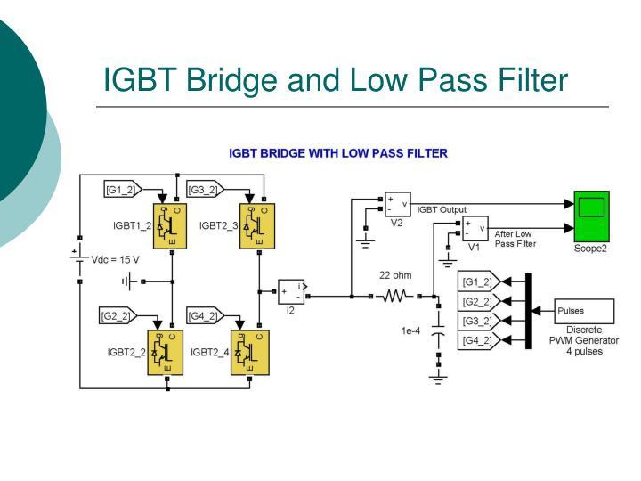 IGBT Bridge and Low Pass Filter