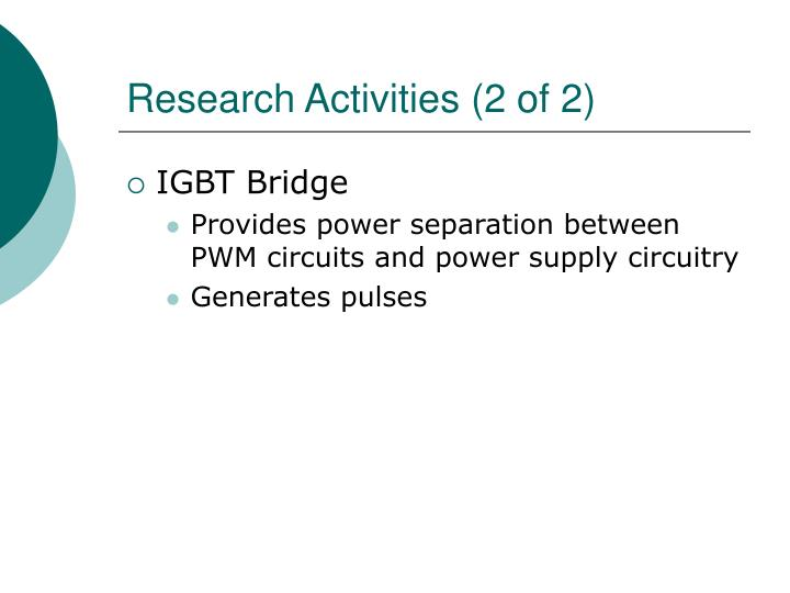 Research Activities (2 of 2)