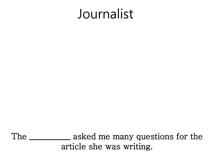 Journalist