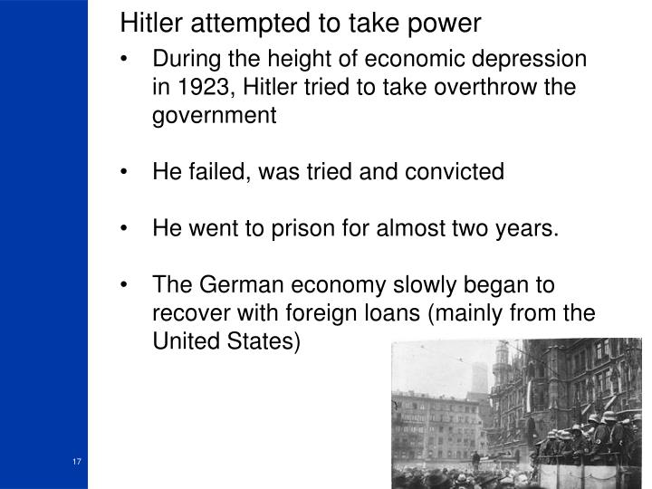 Hitler attempted to take power