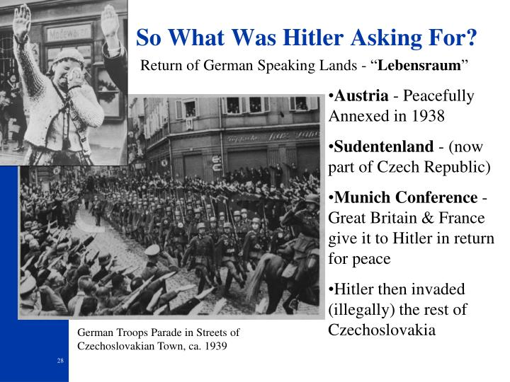 So What Was Hitler Asking For?