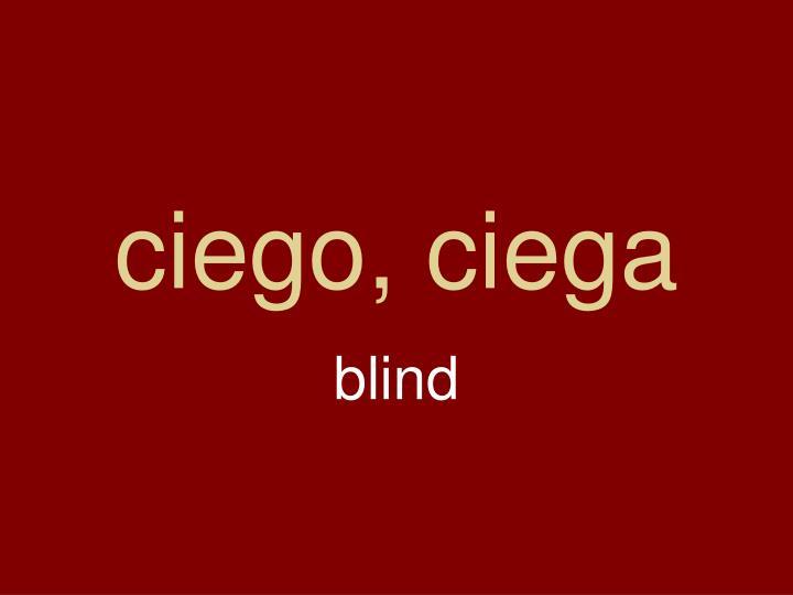 ciego, ciega