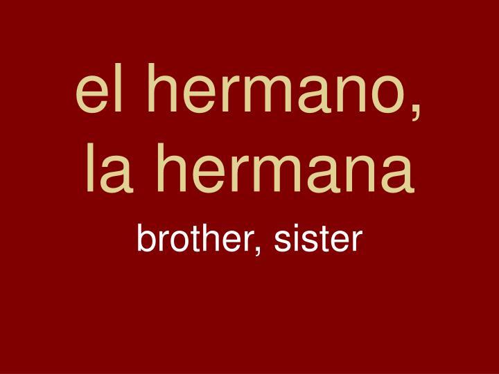 el hermano,