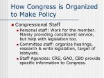 how congress is organized to make policy6