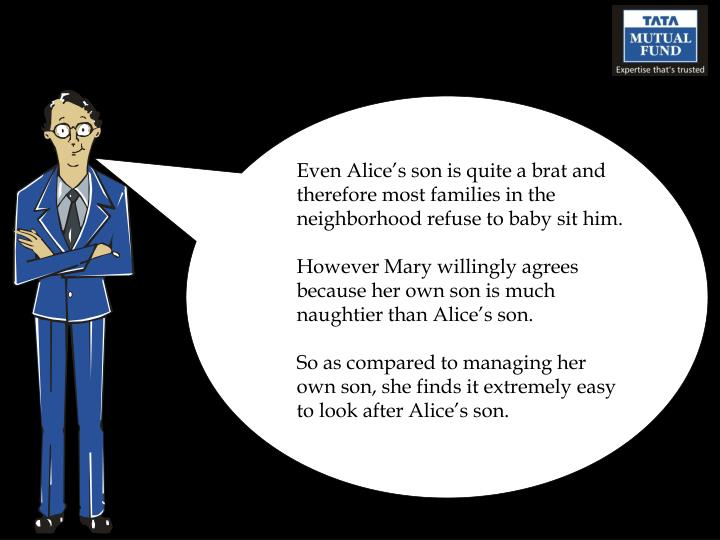 Even Alice's son is quite a brat and therefore most families in the neighborhood refuse to baby sit him.