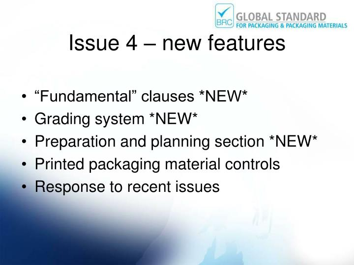 Issue 4 – new features