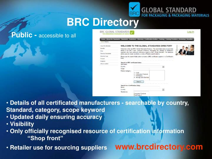 BRC Directory