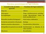 fonctions caract ristiques de l agro industrie