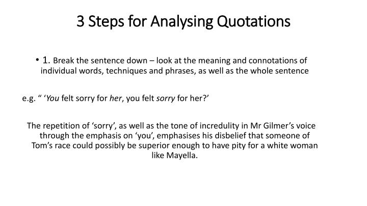 3 Steps for Analysing Quotations
