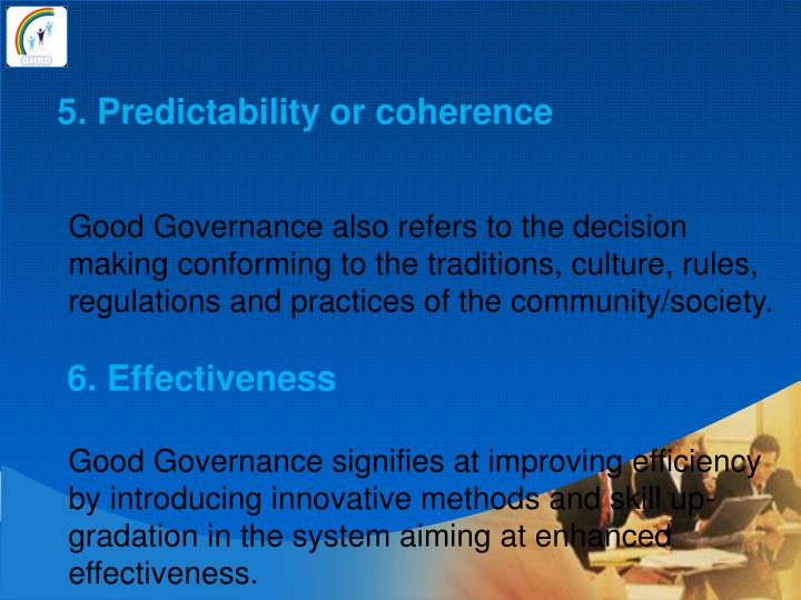 5. Predictability or coherence