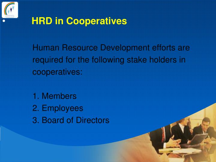 HRD in Cooperatives