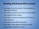 reading workshop mini lessons