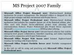ms project 2007 f amily