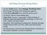 setting nonworking days