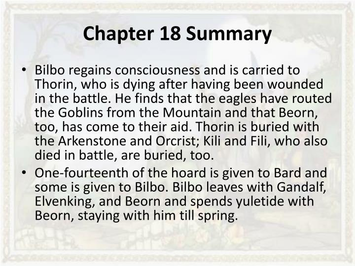 the hobbit chapter one summary A summary of chapter 1 in j r r tolkien's the hobbit learn exactly what  happened in this chapter, scene, or section of the hobbit and what it means  perfect.