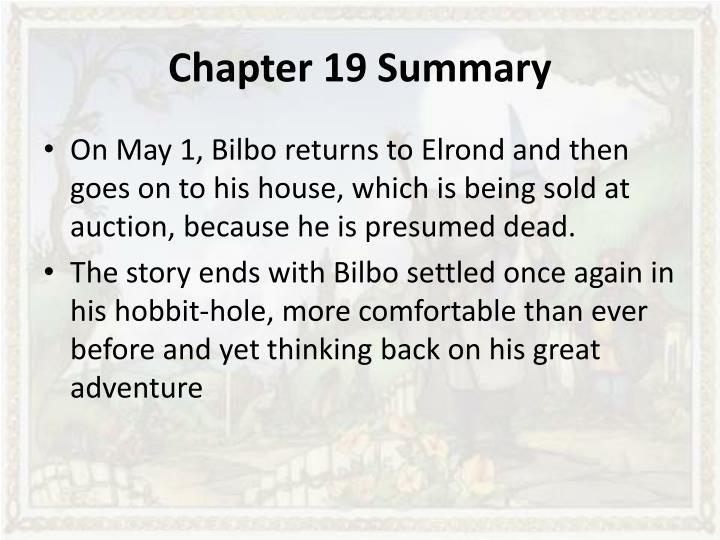 the hobbit summary chapters 16 19 The hobbit chapter 6 summary j r r tolkien  what is a short summary of the hobbit  in chapter 16,.