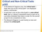 critical and non critical tasks p102