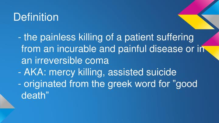 greek definition of euthanasia
