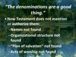 the denominations are a good thing1
