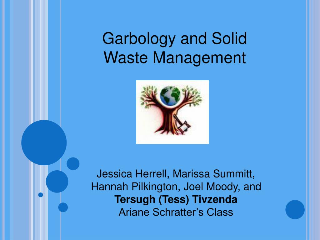 PPT - Garbology and Solid Waste Management PowerPoint Presentation ...