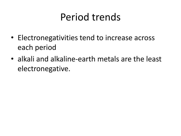 Period trends