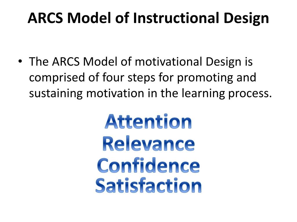 Ppt Arcs Model Of Instructional Design Powerpoint Presentation Free Download Id 2748574