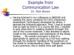 example from communication law dr pam brown