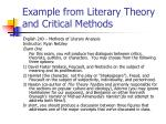 example from literary theory and critical methods