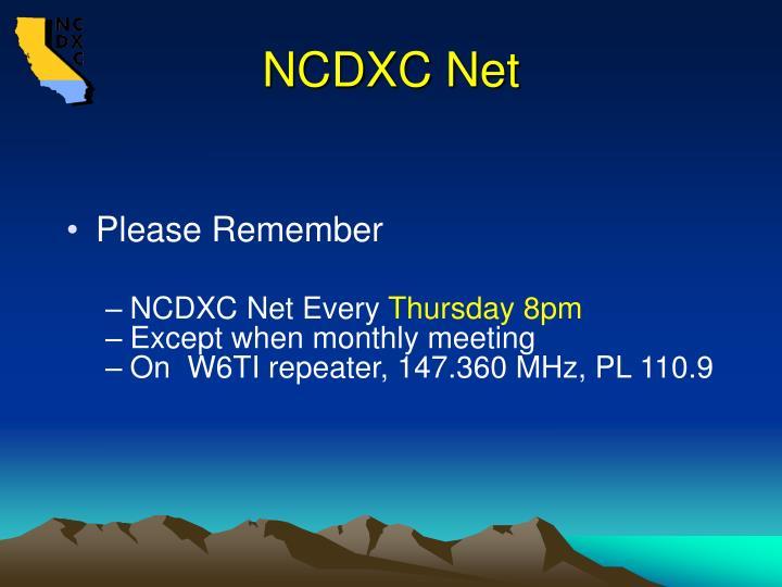 NCDXC Net