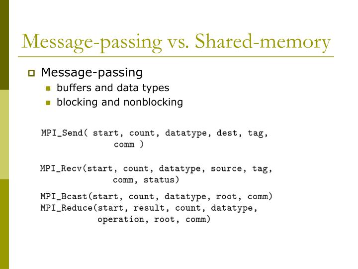 Message-passing