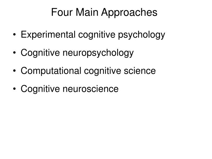 Four main approaches
