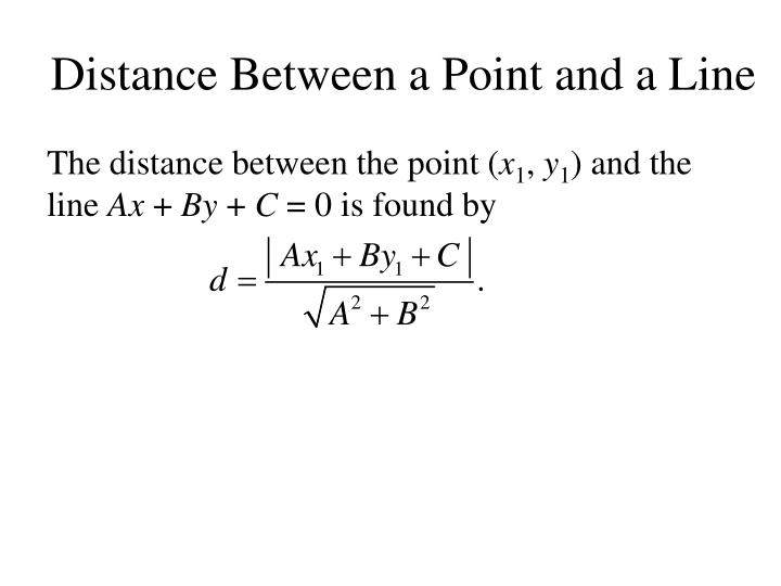 Distance Between a Point and a Line