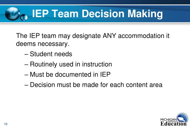 IEP Team Decision Making
