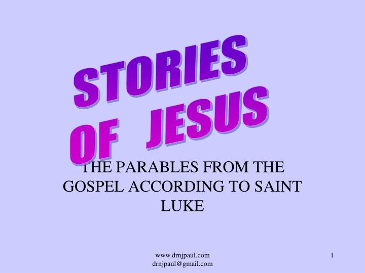the parables from the gospel according to saint luke n.