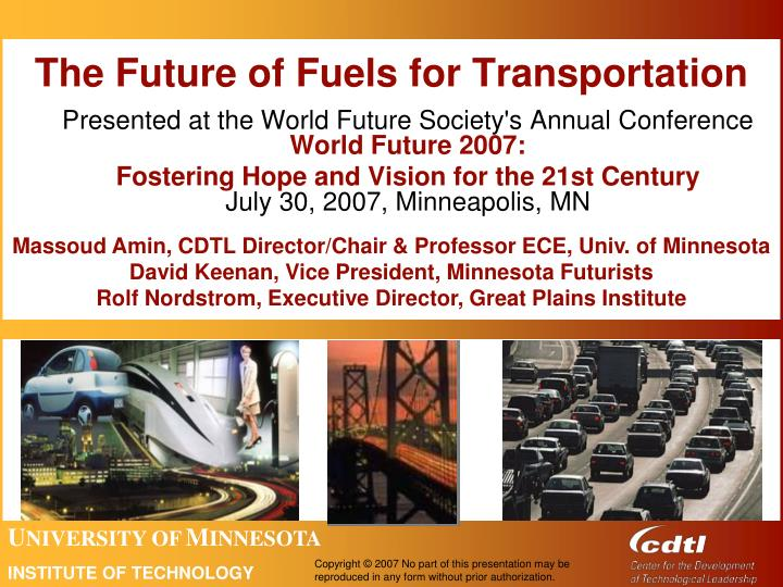 the future of fuels for transportation n.