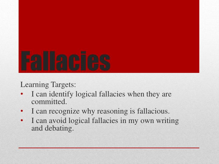 logical fallacies in writing 65 logical fallacies as noted at the end of sect i on 64, using ethos, pathos, and logos in an argument does not mean that the argument made is necessarily a good one in academia, especially, we care a lot about making our arguments logically sound we care about logos.