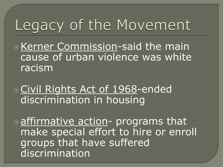 Legacy of the Movement