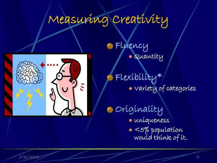 Measuring Creativity