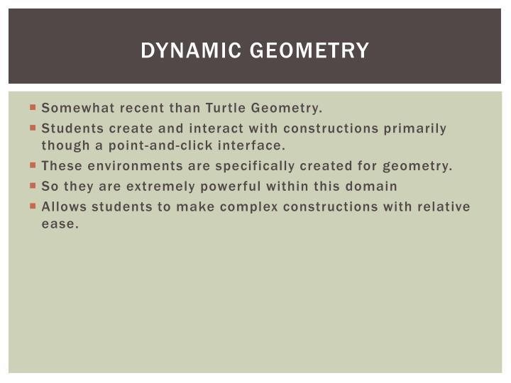 Dynamic Geometry