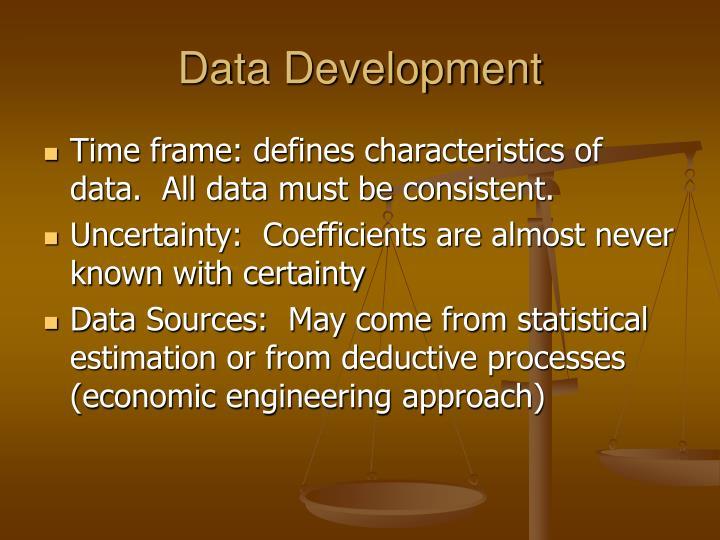 Data Development