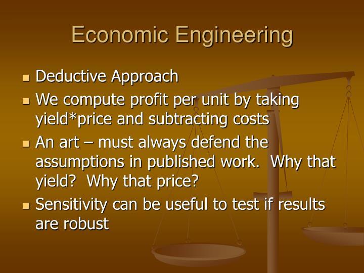 Economic Engineering