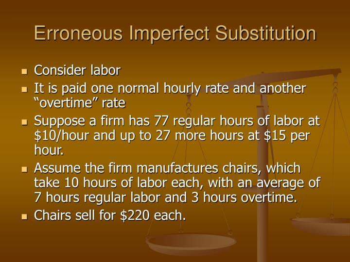 Erroneous Imperfect Substitution