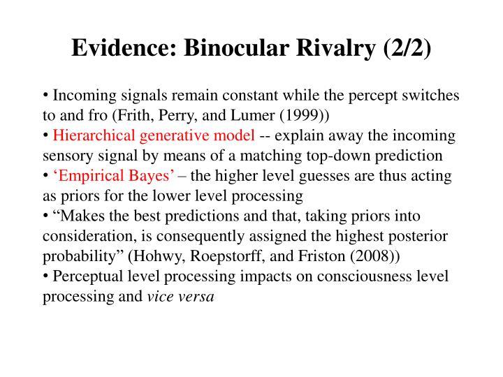 Evidence: Binocular Rivalry (2/2)