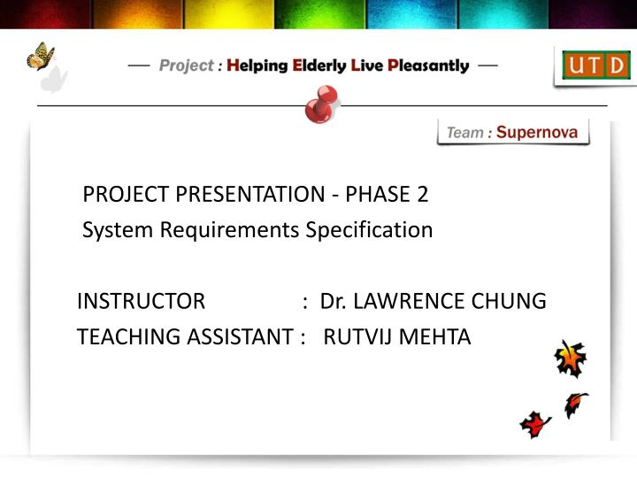 PROJECT PRESENTATION - PHASE 2