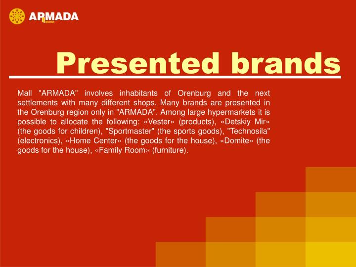Presented brands