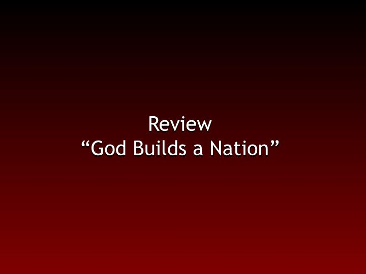 Review god builds a nation